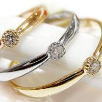 商品番号:yk-28 石の種類:ダイヤモンド 1石(0.28ct) 材質:K10WG/PG/YG (...