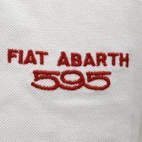 アバルト純正595 50周年アニバーサリーポロシャツ(ホワイト)