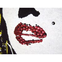 Marilyn Emblem Swarovski Long T-shirt Black×Yellow