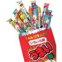パッケージサイズ:タテ560×ヨコ200×厚さ100mm  1袋に通常サイズのうまい棒が40本入って...