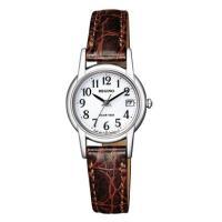 ソーラーテック レディース腕時計 太陽などの光で充電し定期的な電池交換がいらない時計です。