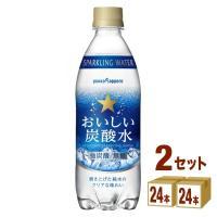 ポッカサッポロおいしい炭酸水はすっきりとした飲み口と刺激的な炭酸感が味わえる、純水100%使用の炭酸...
