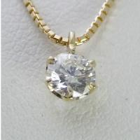 1.0ctupのダイヤモンドネックレス。【Eカラー VVS2クラス 3EXカット】のダイヤモンドを使...