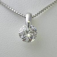 1.0ctupのダイヤモンドネックレス。【Fカラー SI2クラス 3EXカット H&C】のダ...
