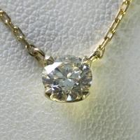 1.0ctupのダイヤモンドネックレス。【Dカラー VVS1クラス 3EXカット H&C】の...