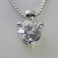 1.0ctupのダイヤモンドネックレス。【Dカラー VVS2クラス 3EXカット H&C】の...