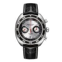 モノトーンのダイヤルとベゼルが美しいこの時計は1971年にハミルトンから発売された世界初のクロノグラ...