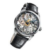この時計はもともと懐中時計用に製造されたユニタス(現在はETA)製の堅牢なムーブメントをフルスケルト...