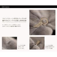 毛皮/ファー/サファイア ミンク ケープ 袖付きデザイン ラインストーン付き
