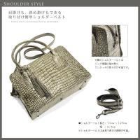 ソフト アリゲーター ハンドバッグ BOX型 デザイン / レディース