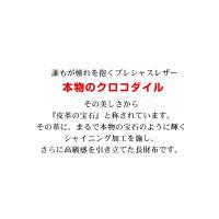 クロコダイル 長財布 シャイニング加工 メタル ラウンド ファスナー / レディース / ヘンローン (No.06000495)