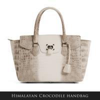 クロコダイルバッグ crocodile ヒマラヤ クロコダイル ハンドバッグ 南京錠デザイン / ヘンローン / レディース