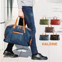 HALEINE ブランド 日本製 ナイロン&栃木レザー ボストン バッグ メンズ 旅行バッグ (No.07000073-mens-1)