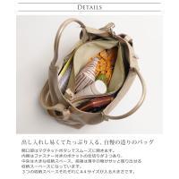 日本製 牛革 ハンドバッグ レディース カラー グレージュ
