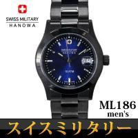 SWISS MILITARY エレガントブラック メンズ ML-186              1...