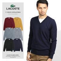 LACOSTE/ラコステ ウォッシャブルウールVネックセーター V-neck Sweaters AH987E