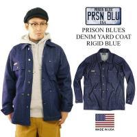 プリズンブルース PRISON BLUES デニムヤードコート リジッドブルー(アメリカ製 米国製 カバーオール)