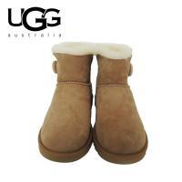 ■商品説明 大人気UGGのムートンブーツ「ベイリーボタン」。上質なスエードレザーとライニングの羊毛が...