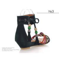 大きいサイズ レディース 靴 サンダル ぺたんこ風 エスニック ウェッジソール ローヒール