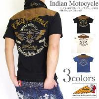 ■INDIAN MOTOCYCLE(インディアンモトサイクル)から、イーグル 刺繍プリント フェイク...