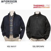 McGREGOR(マクレガー)  メンズ 冬仕様スイングトップ ブルゾン スエード ミニ千鳥格子 中綿キルティング 111139611