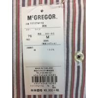 マクレガー、メンズ、長袖シャツ、サッカーストライプBDシャツ。17-4110