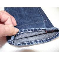 ジーンズの丈つめユニオンスペシャルにてチェーンステッチ仕上げ致します。 チェーンステッチで裾上げをさ...