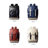 <サイズ> W28x H46x D14cm  <重量>  約730g <素材>  合成皮革 <装備>...