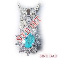 ソーティングメモ�きパライバトルマリン×ダイヤモンド ペンダント�ッド YK-AF052-1712 K18ホワイトゴールド