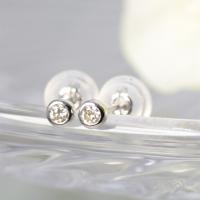 一粒 ピアス プラチナ 0.1ct ダイヤモンド  素材 : プラチナ900 × ダイヤモンド トッ...