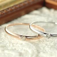 素材 : K10PG(ピンクゴールド)/ K10WG(ホワイトゴールド) 使用石:ダイヤモンド1石 ...