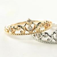 ピンキーリング ピンクゴールド リング ダイヤモンド 指輪 ティアラ 小指 ギフト 人気
