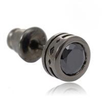 ピアス メンズ Royal Stag Zest ブラックキュービックジルコニア シルバー片耳スタッド...