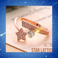 指輪 リング 可愛い 流れ星 スター サイズフリー 調整可 ギフト