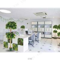 取寄品  ウォールデコレーションA 34×34cm 人工観葉植物 小さい ミニサイズ ミニ観葉植物 フェイクグリーン