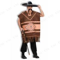 メキシカンポンチョ ブラウン ハロウィン 仮装 コスプレ コスチューム 大人用 男性用 メンズ パーティーグッズ 民族衣装 伝統衣装