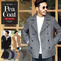 Pコート メンズ ジャケット カジュアル ショート丈  ■サイズ:サイズ表をご確認ください。 ■カラ...