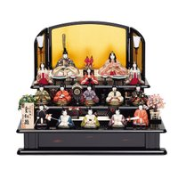 雛人形 真多呂 木目込み ひな人形 本金皇紀雛セット 15人飾り 十五人飾り 3段飾り 三段飾り