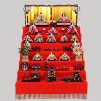 雛人形 七段飾り 15人飾り ひな人形 お雛様 ひな祭り飾り 間口135×奥170×高194cm 収...