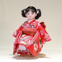 市松人形 抱き人形 (手足が自由に動きます) 童人形 間口26×奥24×高34cm 市松人形・お土産...