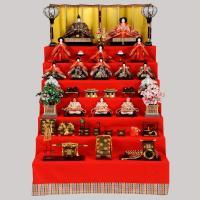 雛人形 七段飾り 15人飾り ひな人形 お雛様 ひな祭り飾り 間口120×奥150×高182cm 収...