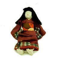 日本人形 抱き人形 女の子 着物エンジ色 訳あり品 倉庫管理品 訳あり品 当商品は倉庫管理品(商品在...