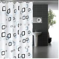シャワーカーテン 防水 防カビ 加工 浴室 カーテン 風呂カーテン 防水 間仕切り 遮像 リング付属 厚手 取り付け簡単 180×180cm チェック柄 おしゃれな柄