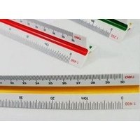 三角スケール縮尺目盛(計測方法6種類)