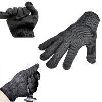 切れない手袋、切れないグローブ 刃物用手袋 安全手袋 材質:高強度 ポリエチレン 繊維 ステンレスワ...