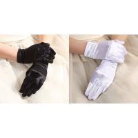 フォーマル ストレッチ サテン ショート手袋 光沢 フリー サイズ (ブラック、ホワイト) サテン手袋 イベントグローブ 光沢グローブ ウェディンググローブ