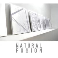 自然をテーマにしたNATURAL FUSIONのファブリックパネル  そのモチーフも穏やかさと力強さ...