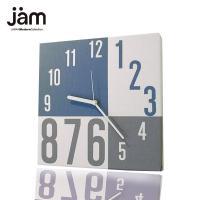 柔らかいブルーとアッシュ系のシンプルでモダンなファブリックの掛け時計です。 お部屋に色を足しながらも...