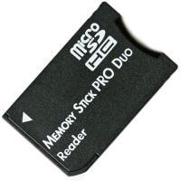 microSD/microSDHC カードをメモリスティック PRO Duoへ変換アダプタ MS P...