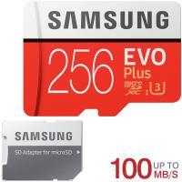 microSDXC 256GB Samsung サムスン EVO Plus EVO+ R:100MB/s W:90MB/s UHS-I U3 Class10 SD変換アダプター付 MB-MC256HA/CN海外パッケージ